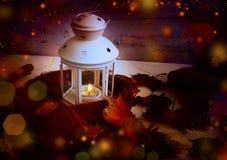 Magic autumn lantern Royalty Free Stock Images