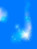 Magic Background. Magic blue background with stars stock illustration