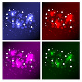 Magic Background Collection. Four Sparkling Magic Background Collection Stock Photo