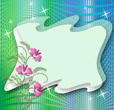 Magic background with flowers Stock Images
