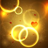 Magic background with hearts for valentine's day. Royalty Free Stock Photos
