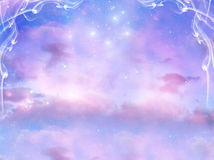 Magic background. Mystical magic background with stars Stock Image
