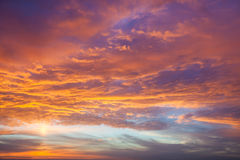 Magic Background  of Real Sundown Sky Royalty Free Stock Image