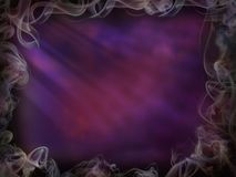 Magic background smoke for Halloween purple pink light wall royalty free illustration