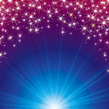Magic Background with Stars and Sparks. Vector. Abstract Magic Background with Stars, Beams and Sparks. Vector illustration Stock Image
