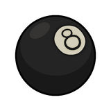 Magic 8 ball illustration. Close up drawing of an 8 ball used for playing pool Royalty Free Stock Image
