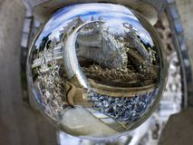 In Magic Ball. White Temple. Royalty Free Stock Image
