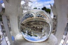In Magic Ball of White Temple. Stock Photos