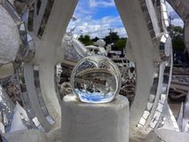 Magic Ball in White Temple. Royalty Free Stock Photo