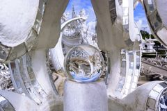 Magic Ball of White Temple. Stock Photography