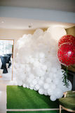Magic baloons decor for wedding ceremony Royalty Free Stock Photography