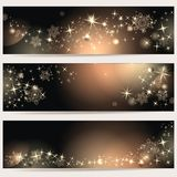 Magic banners. Magic background with stars and space for text Stock Photo