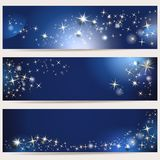 Magic banners. Magic background with stars and space for text Stock Photography