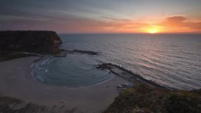 The magic bay at sunrise stock footage