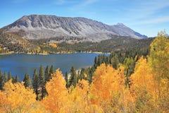 Magic beauty blue lake in Yosemite Park Stock Photos