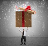 Magic big present Stock Image
