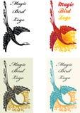 Magic bird logo set Royalty Free Stock Images