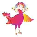 Magic bird Sirin. Vector illustration Royalty Free Stock Images