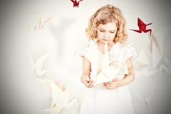 Magic birds Stock Images