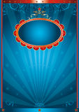 Magic blue. A circus background for your advertising Royalty Free Stock Photo