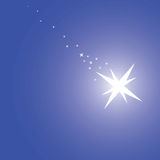 Magic blue background. With big star, vector illustration vector illustration