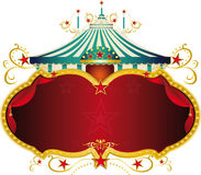 Magic blue baroque circus frame Stock Photo