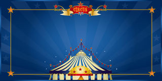 Magic blue circus invitation