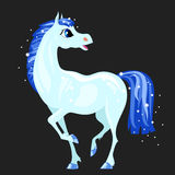 Magic blue horse Stock Photography