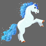 Magic blue horse Stock Images