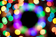 Magic blurred background. Abstract circle bokeh, magic colorful blurred background Stock Photos