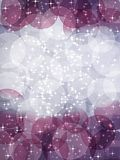 Magic bokeh background. Abstract xmas magic background with bokeh effect stock illustration