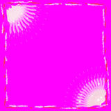 Magic bokeh with space for text on pink background Royalty Free Stock Image