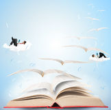 Magic book Stock Images