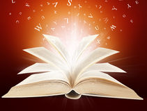 Magic book. In letters Stock Photography