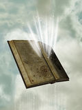 Magic book. In the sky Stock Photo