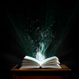 A magic book. Welcome to the magical world of reading Royalty Free Stock Images