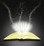 Magic book background Royalty Free Stock Images