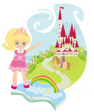 Magic book with a beautiful fairy tale. Illustration Stock Images