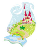Magic book with a beautiful fairy tale. Illustration Stock Photography