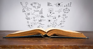 Magic book with business cencept Stock Photo