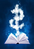 Magic book and dollar symbol Royalty Free Stock Images
