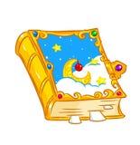 Magic book fairy tale. Magic jewelry book fairy tale isolated illustration cartoon Stock Photography