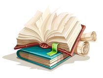 Magic books spreadsheet from fairy tale vector illustration