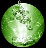 The Magic Book flight Royalty Free Stock Image