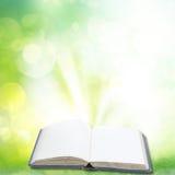 Magic book in garden Royalty Free Stock Photo