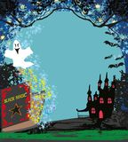 Magic book with ghost stories Stock Image