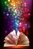 Magic book with light Stock Image