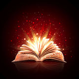Magic book. The magic book with magic lights Royalty Free Stock Image