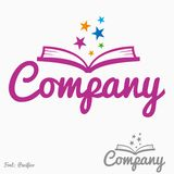Magic book logo Stock Photo