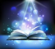 Magic Book Realistic Image vector illustration